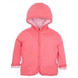 G-mini Dívčí oboustranný kabátek Krteček a třešně - růžový