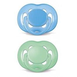 Philips Avent Dudlík Sensitive 6-18m - 2ks (modrý, zelený)
