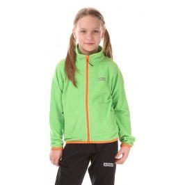 Nordblanc Dětská fleecová mikina - světle zelená