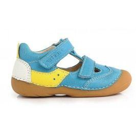 D.D.step Chlapecké kožené sandály - tyrkysové