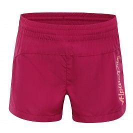 ALPINE PRO Dívčí šortky Cleofo - tmavě růžové