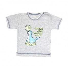 Mamatti Chlapecké tričko s tuleněm - šedé
