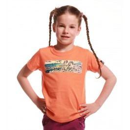 ALPINE PRO Dívčí tričko Unego - oranžové
