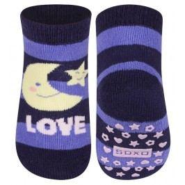 SOXO® Dětské protiskluzové ponožky Love - barevné