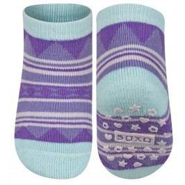 SOXO® Dívčí protiskluzové ponožky - fialovo-modré