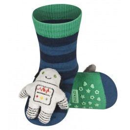 SOXO® Chlapecké protiskluzové ponožky s robotem - modré