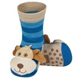 SOXO® Chlapecké protiskluzové ponožky s psem - modré
