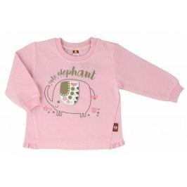 2be3 Dívčí kabátek Elephant - růžový
