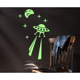 Ambiance Svítící dekorační samolepky - UFO