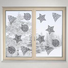 Housedecor Samolepka na sklo Drátěné ozdoby