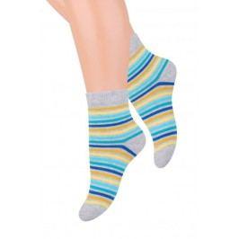 STEVEN Chlapecké proužkované ponožky - šedé