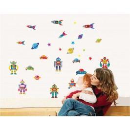 Walplus Samolepka na zeď Roboti, 70x50 cm