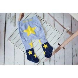 Blade & Rose Dětské punčocháče s hvězdičkami - modro-žluté