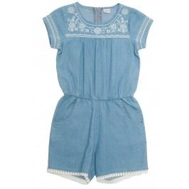 Topo Dívčí letní overal - modrý