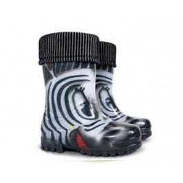 Demar NEPOUŽÍVAT Dětské holínky TWISTER LUX PRINT S Zebra - větší