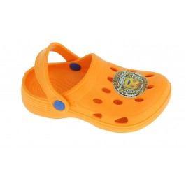 Disney by Arnetta Chlapecké sandály Mimoni - oranžové