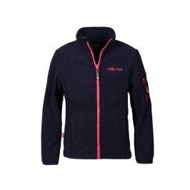 Trollkids Dívčí fleecová bunda Arendal - modro-růžová