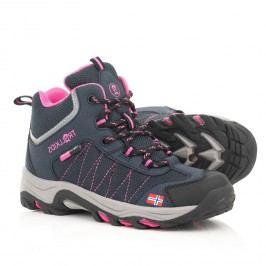 Trollkids Dívčí outdoorová obuv Kids Fjell Hiker - modrá