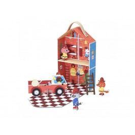 KROOOM Cestovní hrací set – hasičská stanice