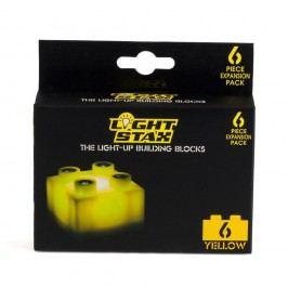 Light Stax Rozšiřující set – 6 kostek žlutých