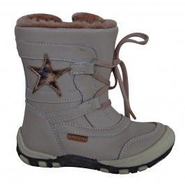 Protetika Dívčí zimní boty s hvězdičkou Verona - béžové