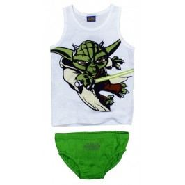 E plus M Chlapecký set tílka a slipů Star Wars - bílo-zelený