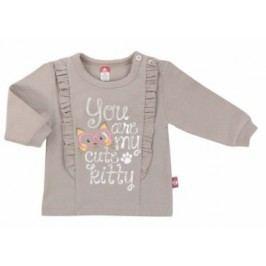 2be3 Dívčí tričko s kanýrky - hnědé