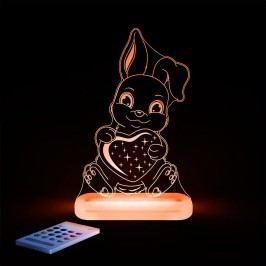 Aloka Noční světýlko Králíček se srdíčkem + ovladač pro volbu barev
