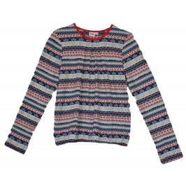 Topo Dívčí úpletová vzorovaná tunika - barevná