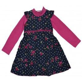 Topo Dívčí šaty s květinami a tričkem - berevné