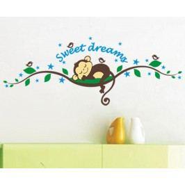 Ambiance Dekorační samolepky - spící opička na stromě