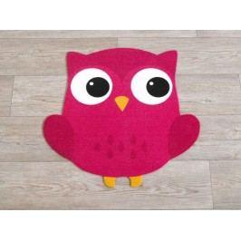 Hanse Home Dětský koberec Sovička, 100x100 cm - růžový