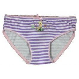E plus M Dívčí proužkované kalhotky Frozen - bílo-fialové
