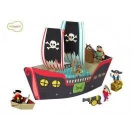 KROOOM Hrací set – pirátská loď