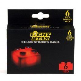 Light Stax Rozšiřující set – 6 kostek červených