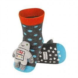 SOXO® Chlapecké protiskluzové ponožky s panáčkem - barevná