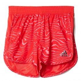 adidas Dívčí vzorované šortky - červené