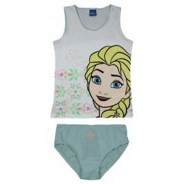 E plus M Dívčí set tílka a kalhotek Frozen - bílo-zelený