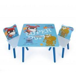 Homestyle4U Dětský stůl s židlemi Pejsek