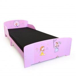 Homestyle4U Dětská dřevěná postel Princezny