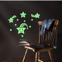 Fanastick Nástěnná svítící samolepka Usmívající se hvězdy