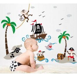 Fanastick Nástěnná samolepka Pirátská loď