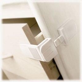 Lindam Bezpečnostní zábrana na skříně a šuplíky ve tvaru L, 2 ks