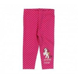 E plus M Dívčí puntíkované legíny Sweet Pony - růžové