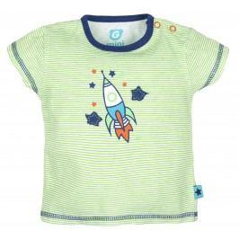 G-mini Chlapecké pruhované tričko Raketa - zelené
