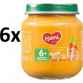 Hami Příkrm mrkev, brambory, telecí, 6x125g