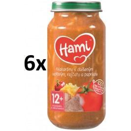 Hami Příkrm makaróny s dušeným vepřovým, rajčaty a paprikou, 6x250g