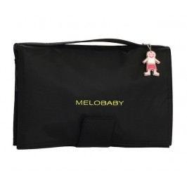 Melobaby MELONOIR - černá taška + tmavě šedá přebalovací podložka