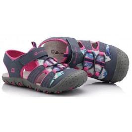ALPINE PRO Dívčí sandály Pankaja - růžovo-šedé