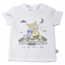 Blue Seven Chlapecké tričko s medvídkem - bílé